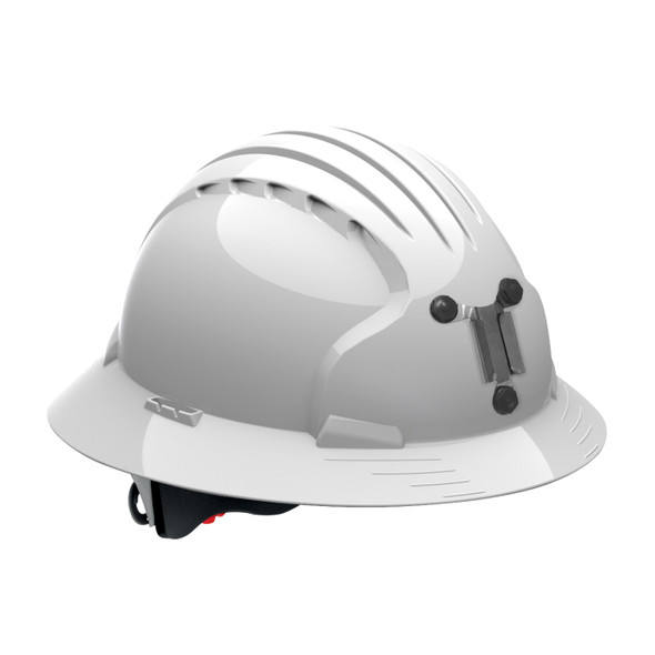 PIP Made in USA Full Brim Mining Hard Hat with 6-Point Ratchet Adjustment 280-EV6161M White
