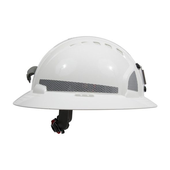 PIP Made in USA Full Brim Mining Hard Hat with Reflective 6 PT Ratchet 280-EV6161MCR2 - Box of 10 Side Profile