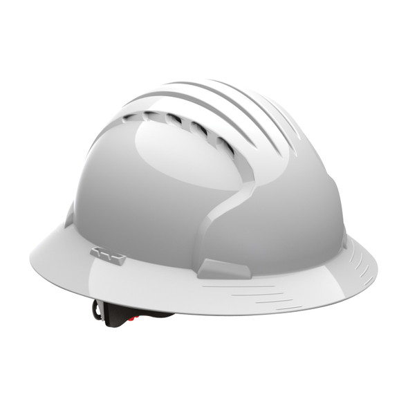 PIP Class C Vented Full Brim Made in USA Hard Hat with 6-Pt Ratchet Adjustment 280-EV6161V - Box of 10 White