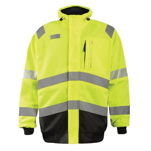 Occunomix Class 3 Hi Vis Yellow DOR Crossover Jacket SP-CROSSJKT Front