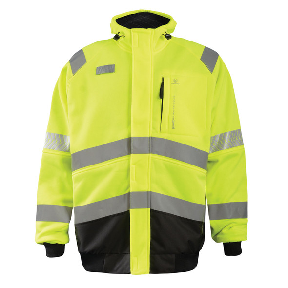 Occunomix Class 3 Hi Vis Yellow DOR Crossover Safety Jacket SP-CROSSJKT Front
