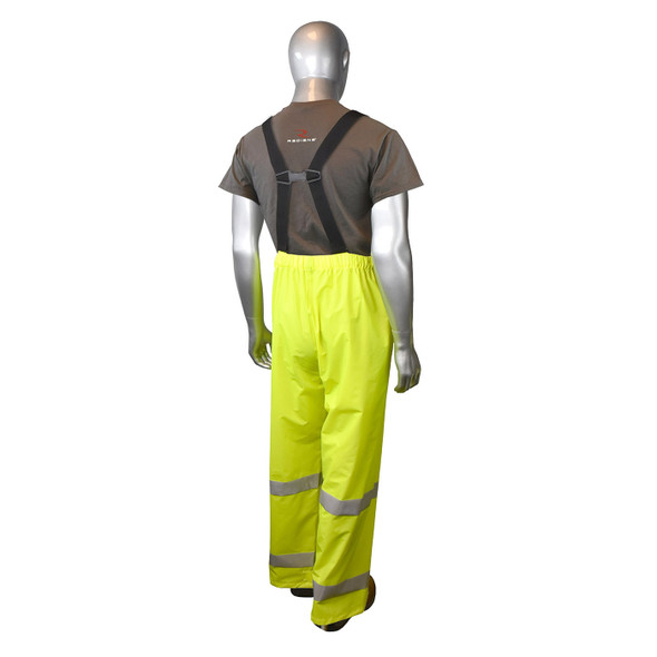 Radians Class E Hi Vis Green Rain Pants RW25P-EZGV Back