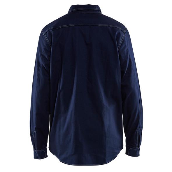 Blaklader FR Navy Blue Long Sleeve Shirt 327615518900 Back