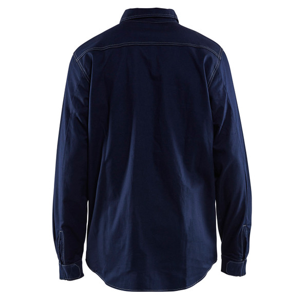 Blaklader FR Navy Blue Long Sleeve Shirt 327615518900 Back