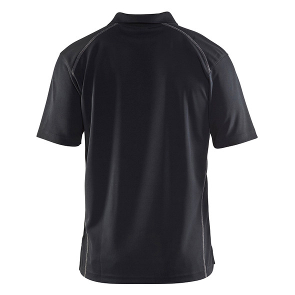 Blaklader Moisture Wicking Short Sleeve Black Polo Shirt with UPF 40 Protection 345110519900 Back