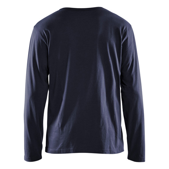 Blaklader Navy Blue Long Sleeve T-Shirt 355910428600 Back