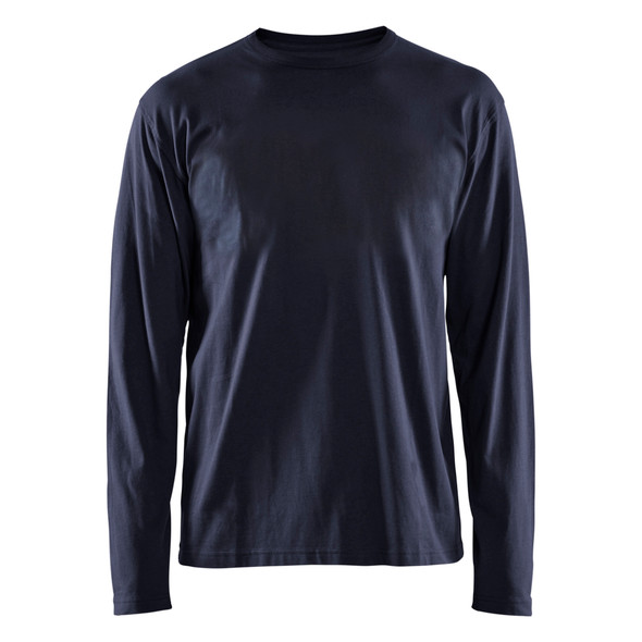 Blaklader Navy Blue Long Sleeve T-Shirt 355910428600 Front