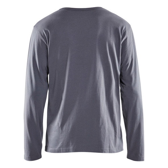 Blaklader Grey Long Sleeve T-Shirt 355910429400 Back