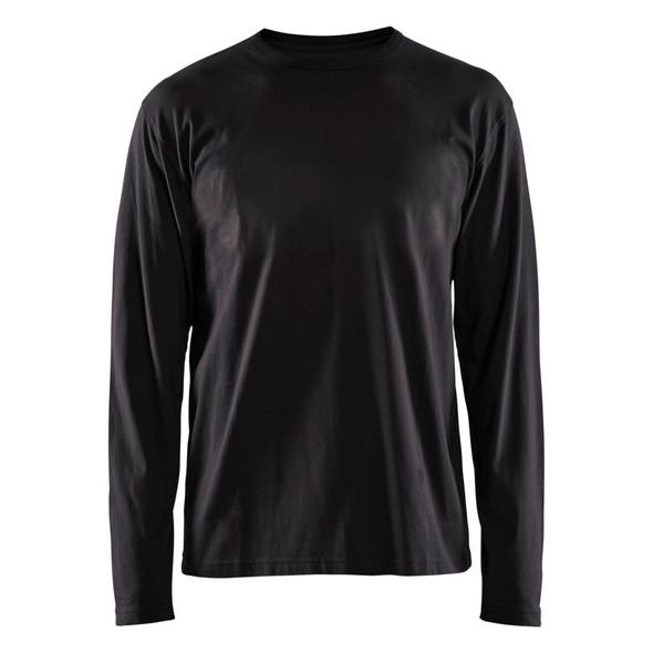 Blaklader Black Long Sleeve T-Shirt 355910429900 Front