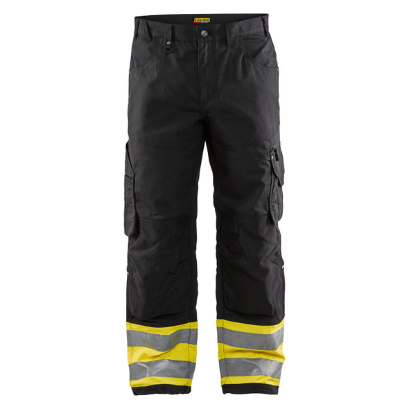 Blaklader Enhanced Visibility Rip Stop Pants 169713309933 Front