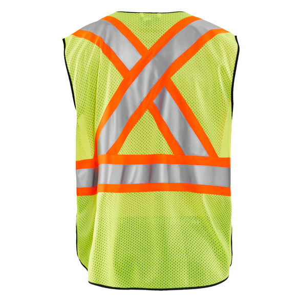 Blaklader Class 2 Hi Vis Two-Tone X-Back Yellow Black Bottom Safety Vest 313310543399 Back