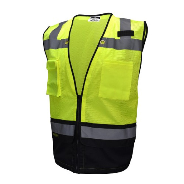 Radians Class 2 Hi Vis Green Black Bottom Surveyor Safety Vest SV59B-2ZGM
