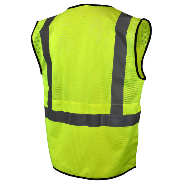 Radians Class 2 Hi Vis Green Black Bottom Mesh Surveyor Safety Vest SV7B-2ZGM Back
