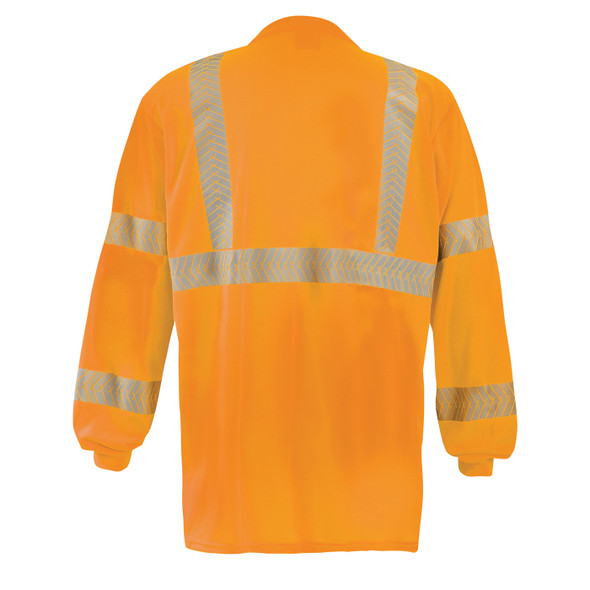 Occunomix Class 3 Hi Vis Long Sleeve T-Shirt with Segmented Tape and Chest Pocket LUX-TLSP3B Orange Back