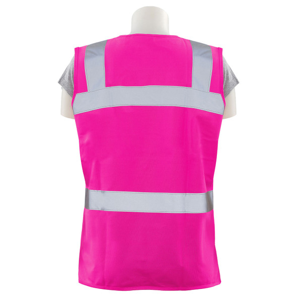 Girl Power at Work Non-ANSI Hi Vis Pink Ladies Fitted Vest S721 Back