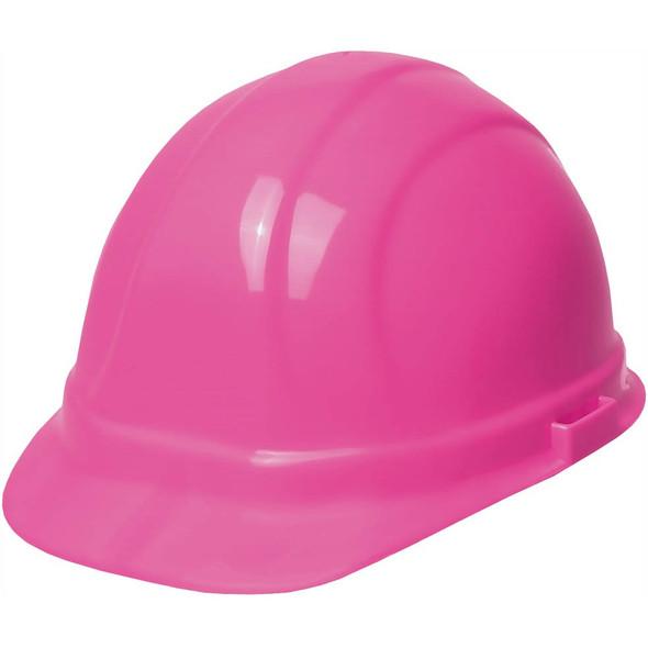 Case of 12 Girl Power at Work Omega II Mega Ratchet Hi Vis Pink Ladies Hard Hat Cap 19989