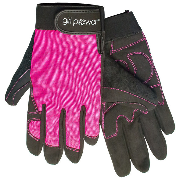 Girl Power at Work Pink Ladies Mechanics Gloves GP8-611