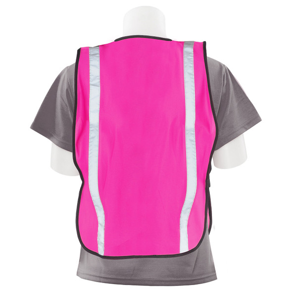 Girl Power at Work Non-ANSI Hi Vis Pink Ladies Safety Vest S102 Back