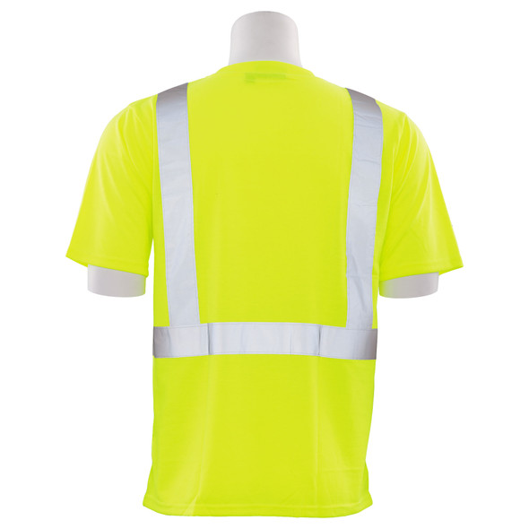 ERB Class 2 Hi Vis Lime Black Bottom T-Shirt 9604S-L Back