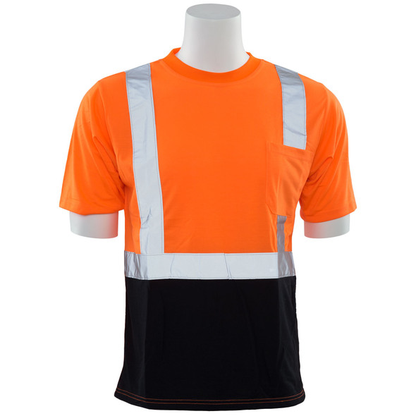 ERB Class 2 Hi Vis Orange Black Bottom T-Shirt 9604S-O Front