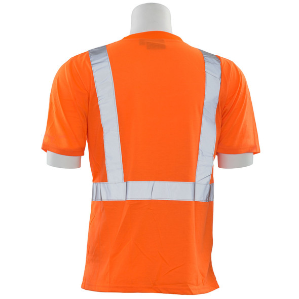 ERB Class 2 Hi Vis Orange Black Bottom T-Shirt 9604S-O Back