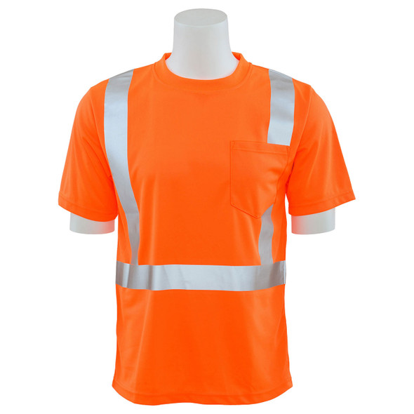 ERB Class 2 Hi Vis Orange Moisture Wicking T-Shirt 9006S-O Front
