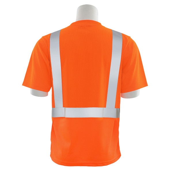 ERB Class 2 Hi Vis Orange Moisture Wicking T-Shirt 9006S-O Back
