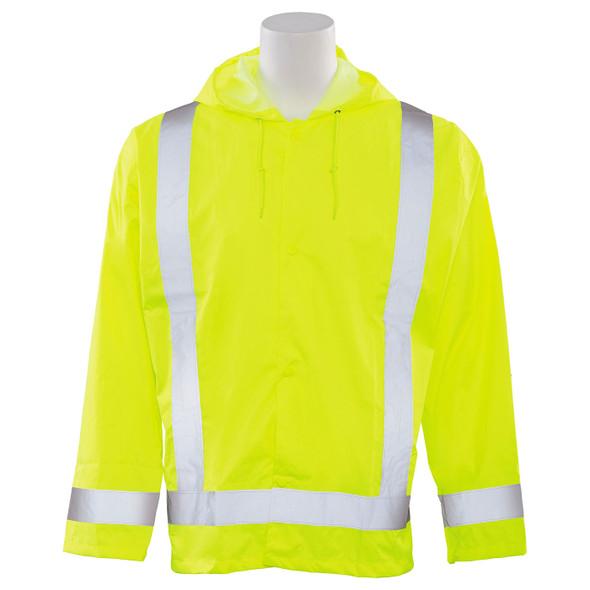 ERB Class 3 Hi Vis Lime Rain Jacket S373-L Front