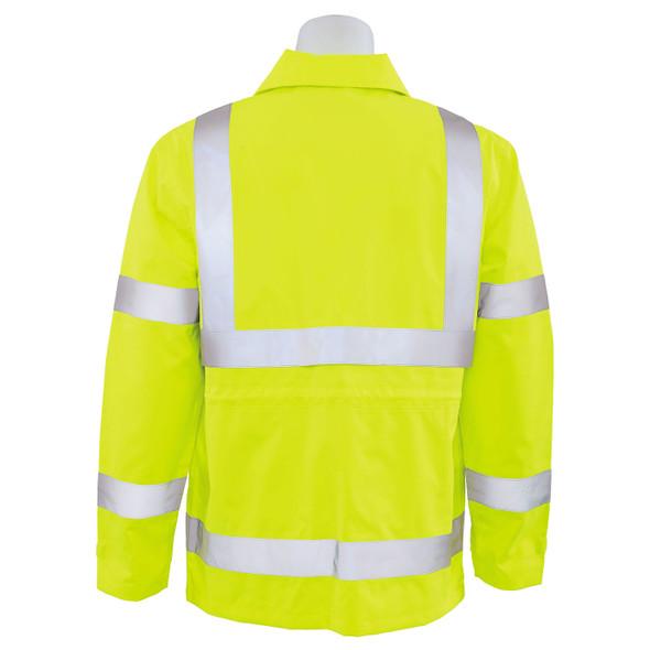 ERB Class 3 Hi Vis Lime Raincoat S371-L Back