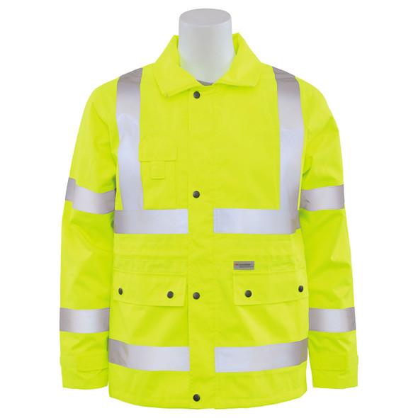 ERB Class 3 Hi Vis Lime Raincoat S371-L Front