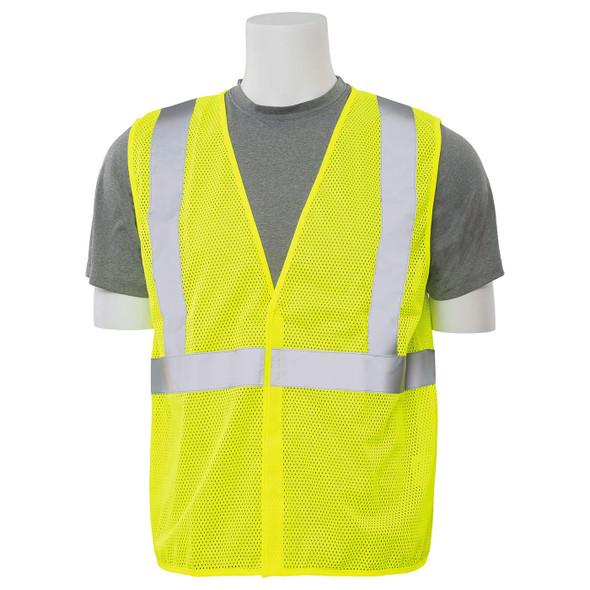 ERB Class 2 Hi Vis Lime Economy Mesh Safety Vest S362-L Front