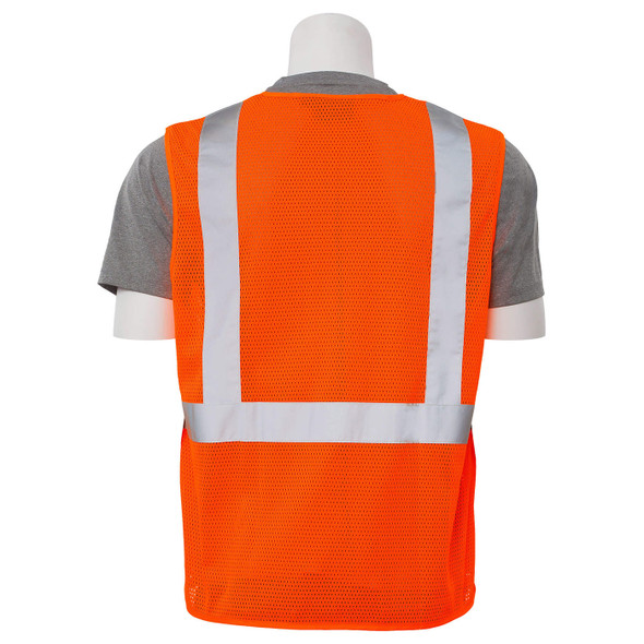 ERB Class 2 Hi Vis Orange Economy Mesh Safety Vest S362-O back
