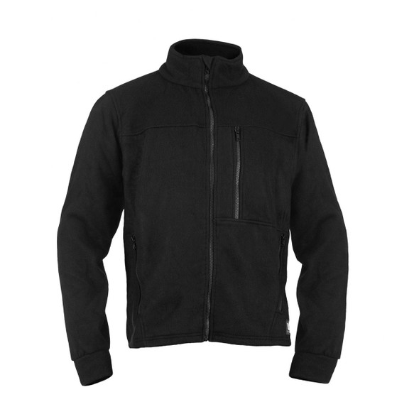 DragonWear FR ALPHA Black Nomex IIIA Fleece Jacket DF10