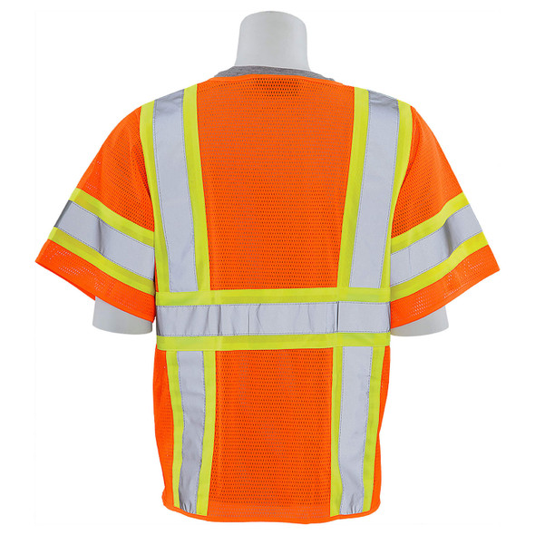 ERB Class 3 Hi Vis Orange Two-Tone Mesh Safety Vest S683P-O
