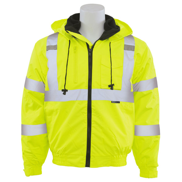 ERB Class 3 Hi Vis Lime 3-in-1 Bomber Jacket W510 Front