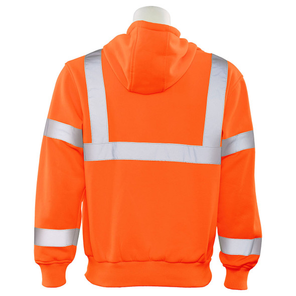 ERB Class 3 Hi Vis Orange Pullover Hooded Sweatshirt W376-O Back