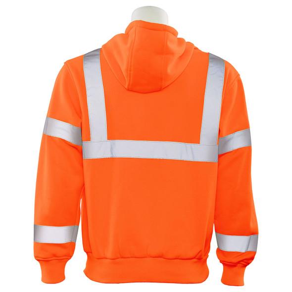 ERB Class 3 Hi Vis Orange Pullover Hooded Sweatshirt W376-O Back