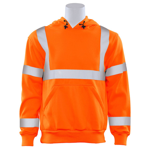 ERB Class 3 Hi Vis Orange Pullover Hooded Sweatshirt W376-O Front