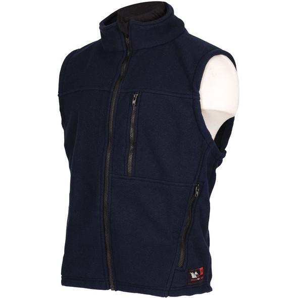 DragonWear FR Alpha Black Nomex IIIA Fleece Made in USA Vest DF20 Side