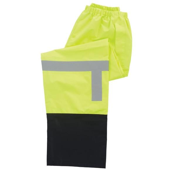 ERB Class E Hi Vis Lime Black Bottom Rain Pants S373PTB-L