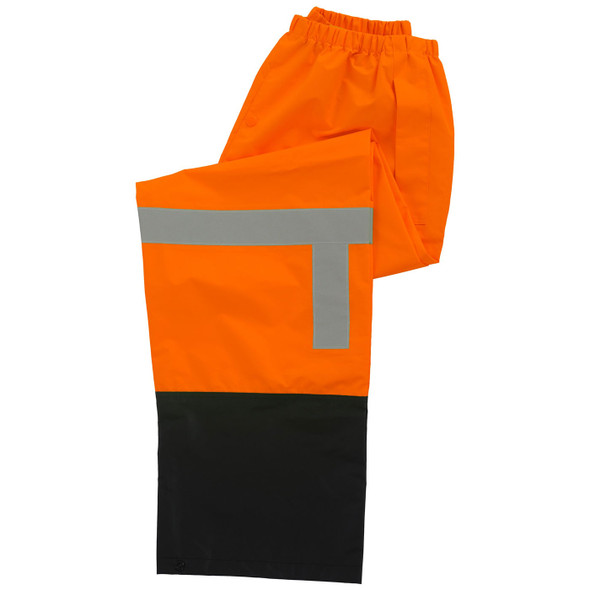 ERB Class E Hi Vis Orange Black Bottom Rain Pants S373PTB-O