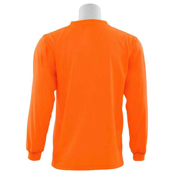 ERB Non-ANSI Hi Vis Orange Moisture Wicking Long Sleeve T-Shirt 9602-O Back