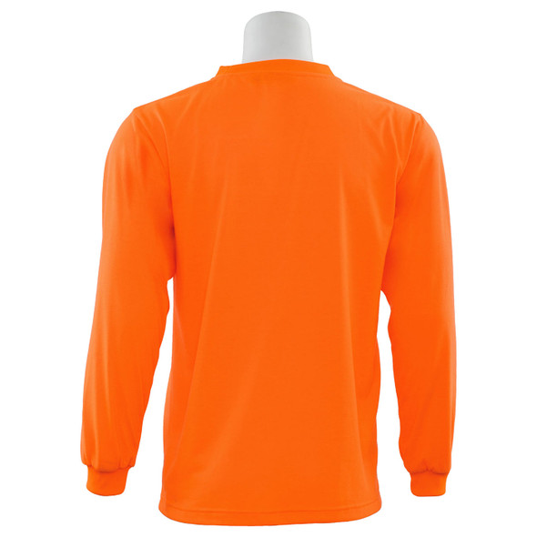 ERB Non-ANSI Hi Vis Orange Moisture Wicking Long Sleeve T-Shirt 9602-O Back
