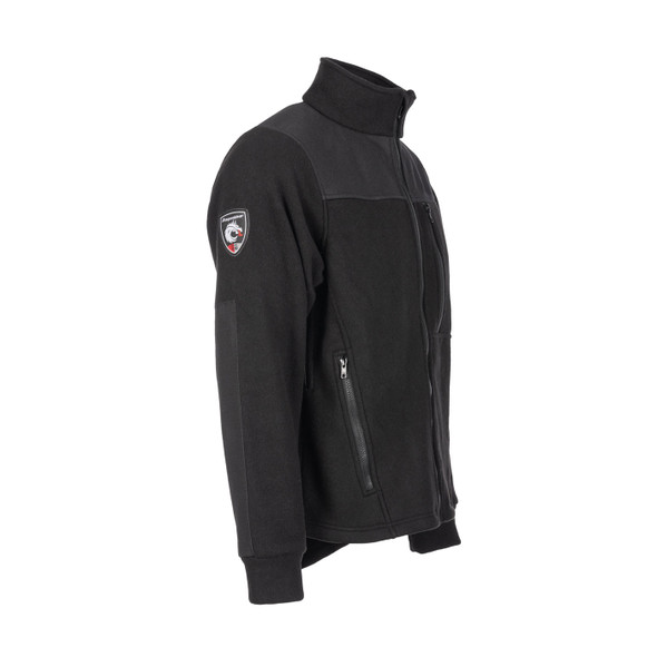 DragonWear FR Exxtreme Black Rip-Stop Nomex Super Fleece Made in USA Jacket 105010 Side