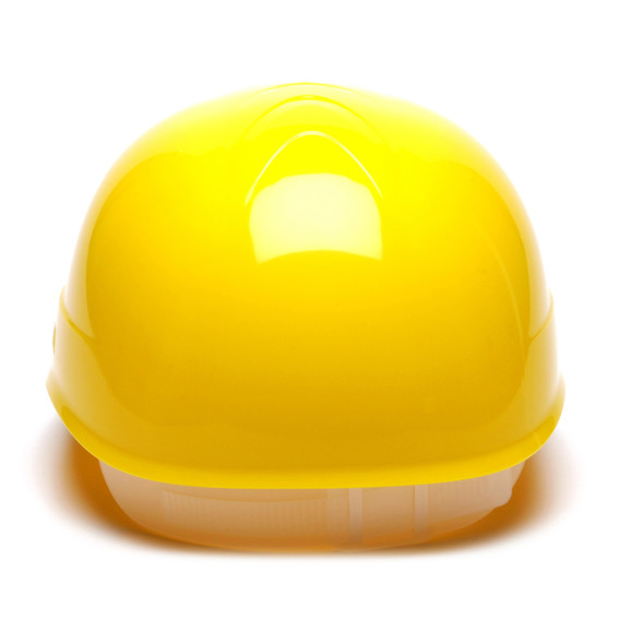 Box of 16 Pyramex Hi Vis Ridgeline 4-Point Glide Lock Bump Caps HP40030 Yellow Back