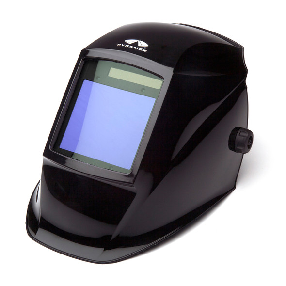 Pyramex Leadhead Auto-Darkening Glossy Black Welding Helmet WHAM3030GB Side