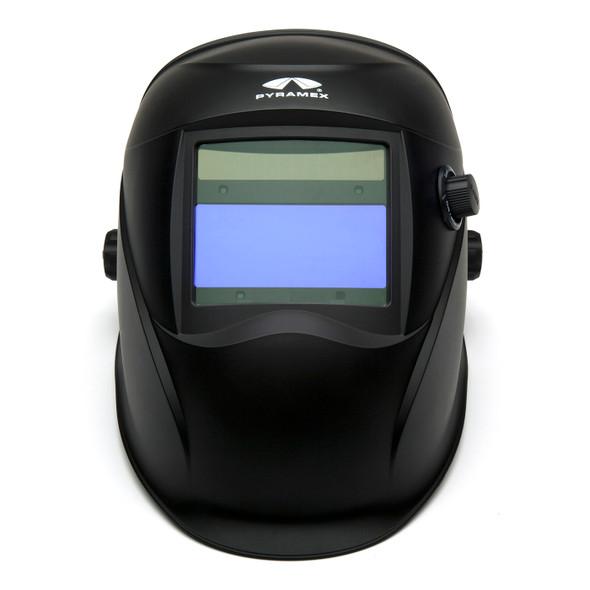 Pyramex Leadhead Auto-Darkening Matte Black Welding Helmet WHAM1020MB Front