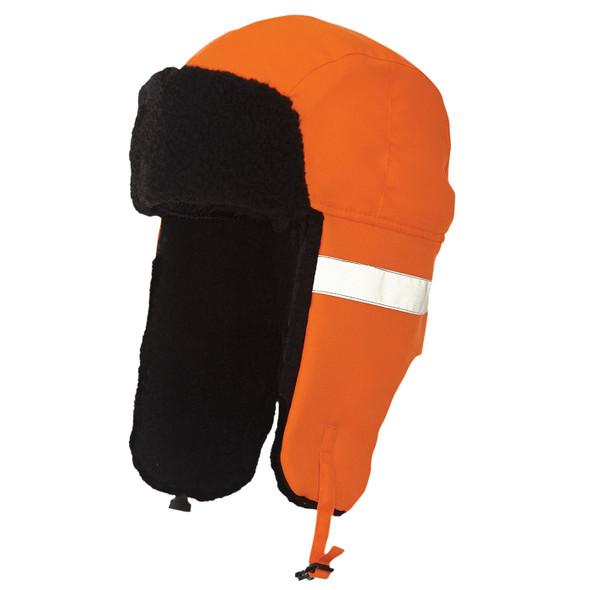Tough Duck Non-ANSI Hi Vis Aviator Hat i15516 Fluorescent Orange