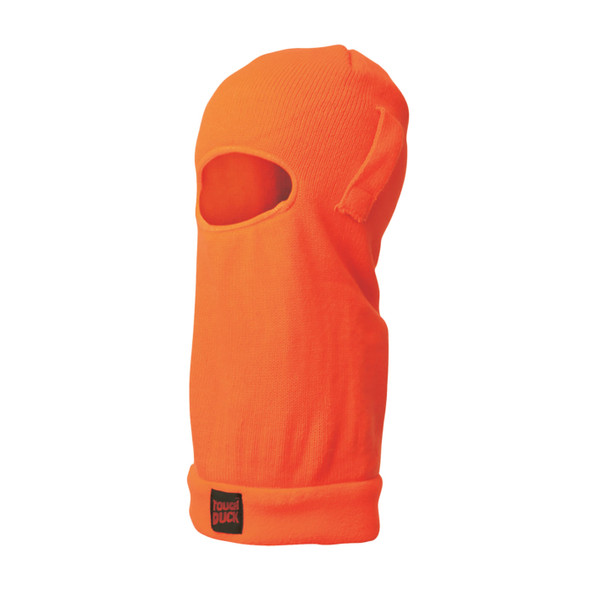 Tough Duck Non-ANSI Hi Vis Acrylic Fleece Lined Balaclava with Hard Hat Straps i26516 Fluorescent Orange