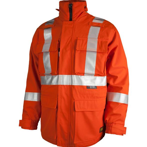 Tough Duck FR CSA Class 2 Hi Vis Orange X-Back Jacket FJBL01 Front